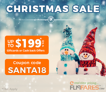 FlipFares Christmas sale