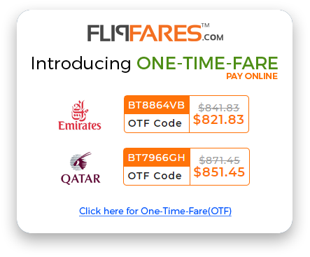 FlipFares Introducing ONE-TIME-FARE(OTF)